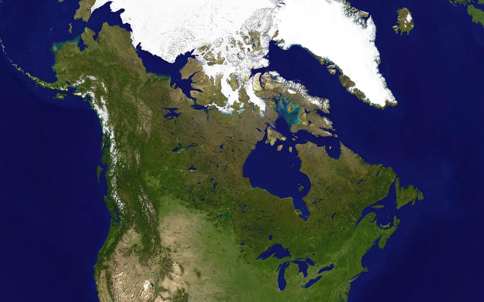 Harta Prin Satelit De Canada Harta De Canada Prin Satelit