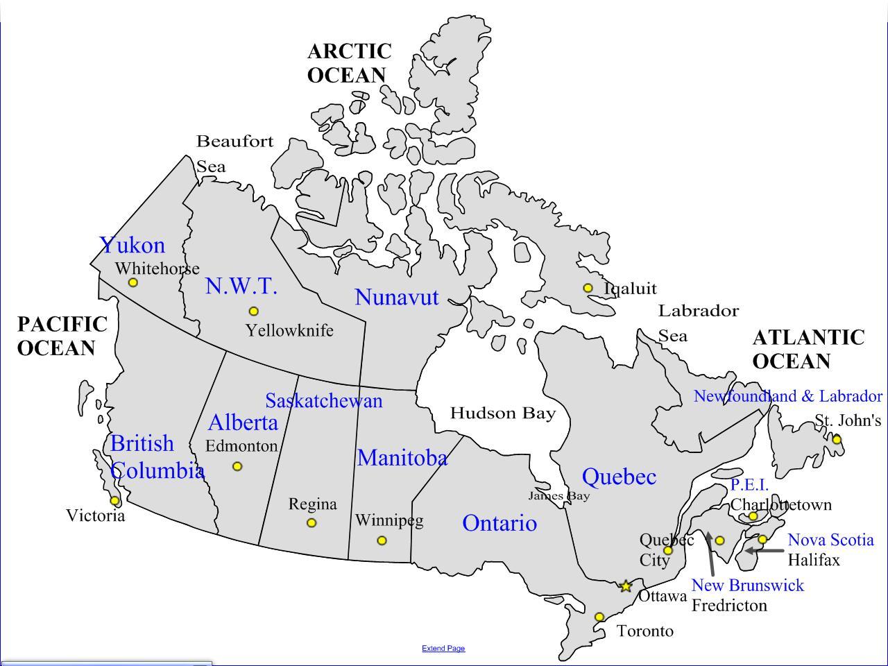 Rutiere Hartă De Canada Harta Rutieră Dintre Canada și Provincii